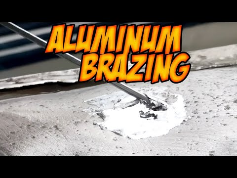 DIY Aluminum Brazing holes in canoe / boat with Blue Demon Triple Play / aluminum solder & welding