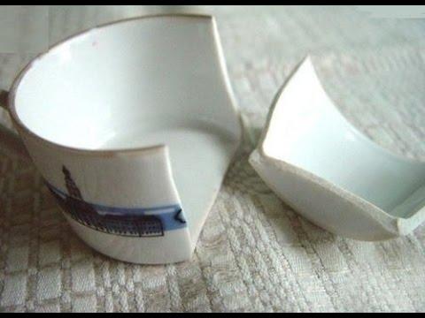 Repairing a broken mug with boiled milk