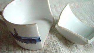 Diapo - Repairing a broken mug with boiled milk