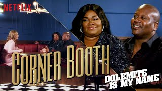 Tituss Burgess and Da'Vine Joy Randolph of Dolemite in the Corner Booth | Netflix
