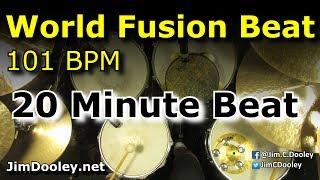 20 minute drum loop world fusion 101 bpm