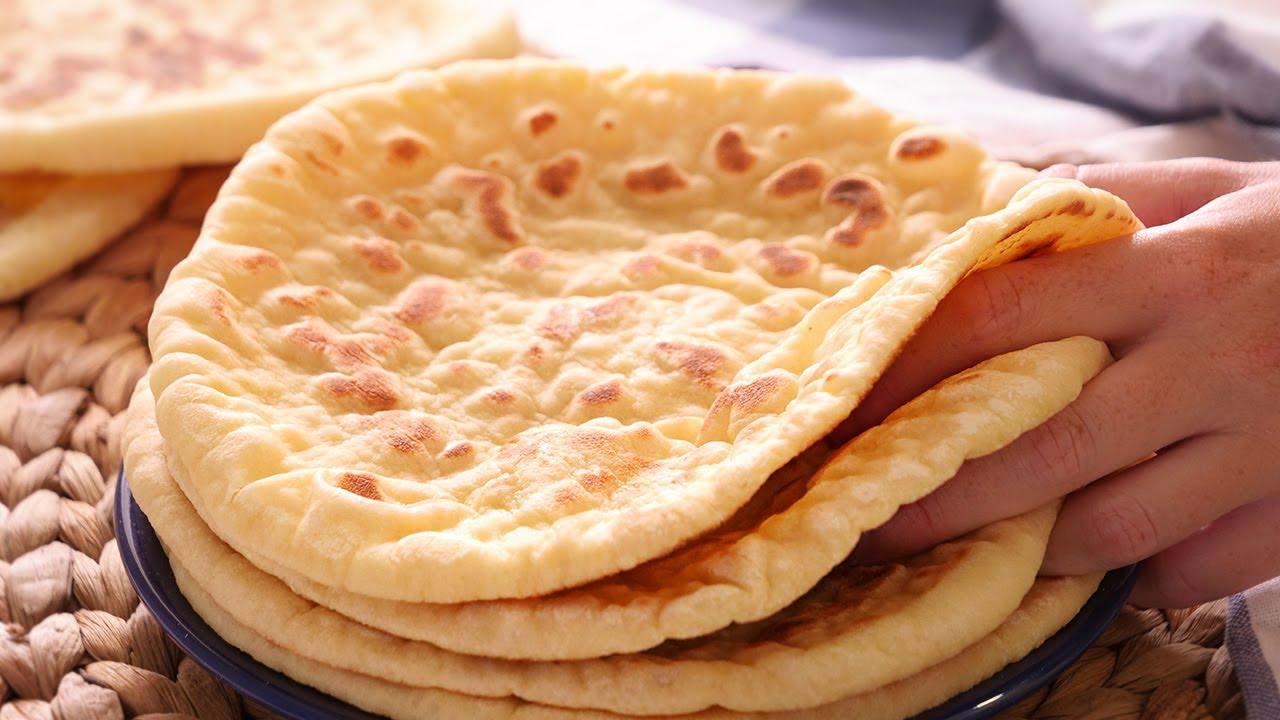 Bazlama   Receta de Pan Turco (Sin Horno) muy Fácil y Delicioso