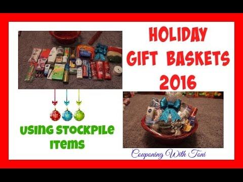 Holiday Gift Baskets 2016 | Toni Is DIY Challenged