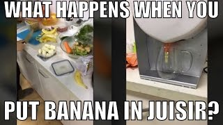Can Juisir Cold Press Bananas? Demo of the Cold Press Juicer You Don