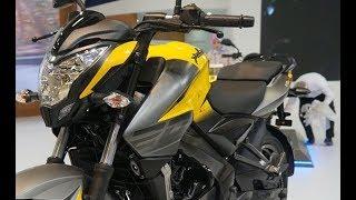 2018 Bajaj Pulsar NS 200 Yellow colour variant at Motobike Istanbul 2018