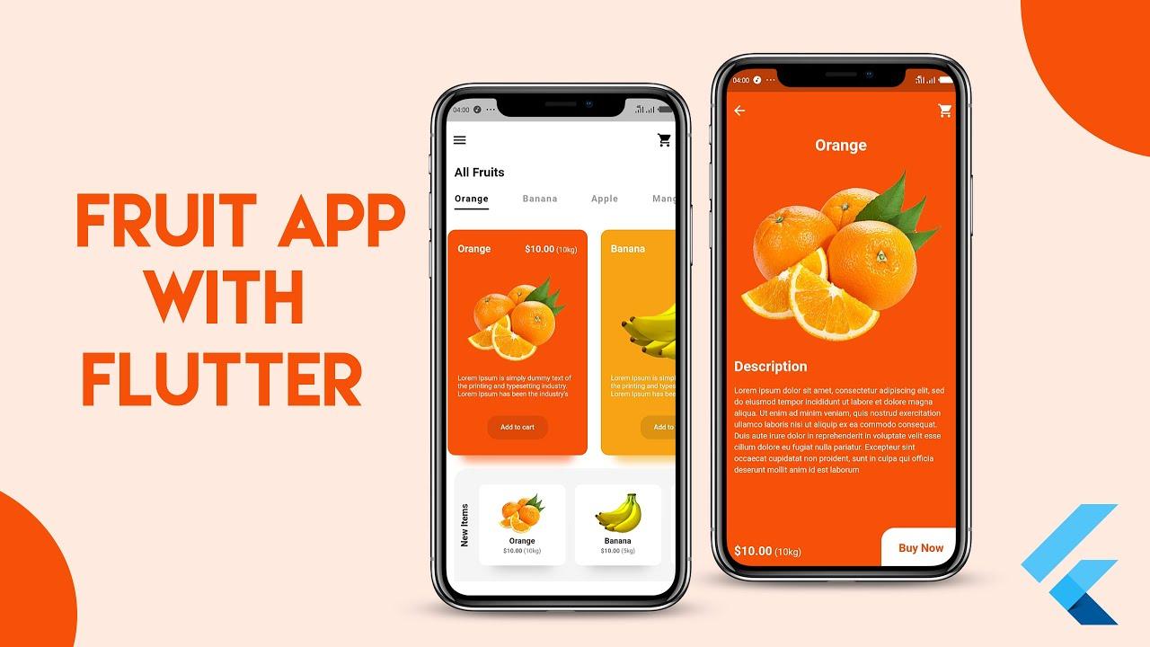 FRUIT APP UI USING FLUTTER - SPEEDCODE UI CHALLENGE