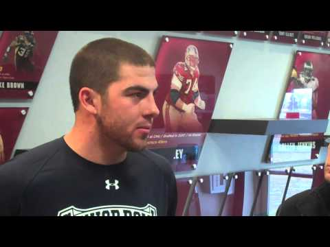 Eric Fisher. Dan Enos speak after Central Michigan Pro Day