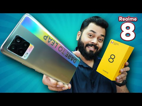 """realme 8 Unboxing And First Impressions ⚡ 6.4"""" AMOLED Screen, 64MP Camera, Helio G95 & More"""