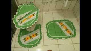 Lindos MODELOS de jogo de banheiro para você fazer