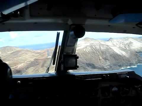 Aterrizaje en aeródromo de Juan Fernández