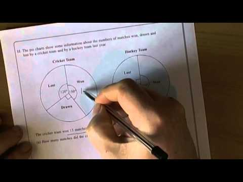 Pie Charts - Interpreting Pie charts - GCSE Mathematics Unit 1 Exam
