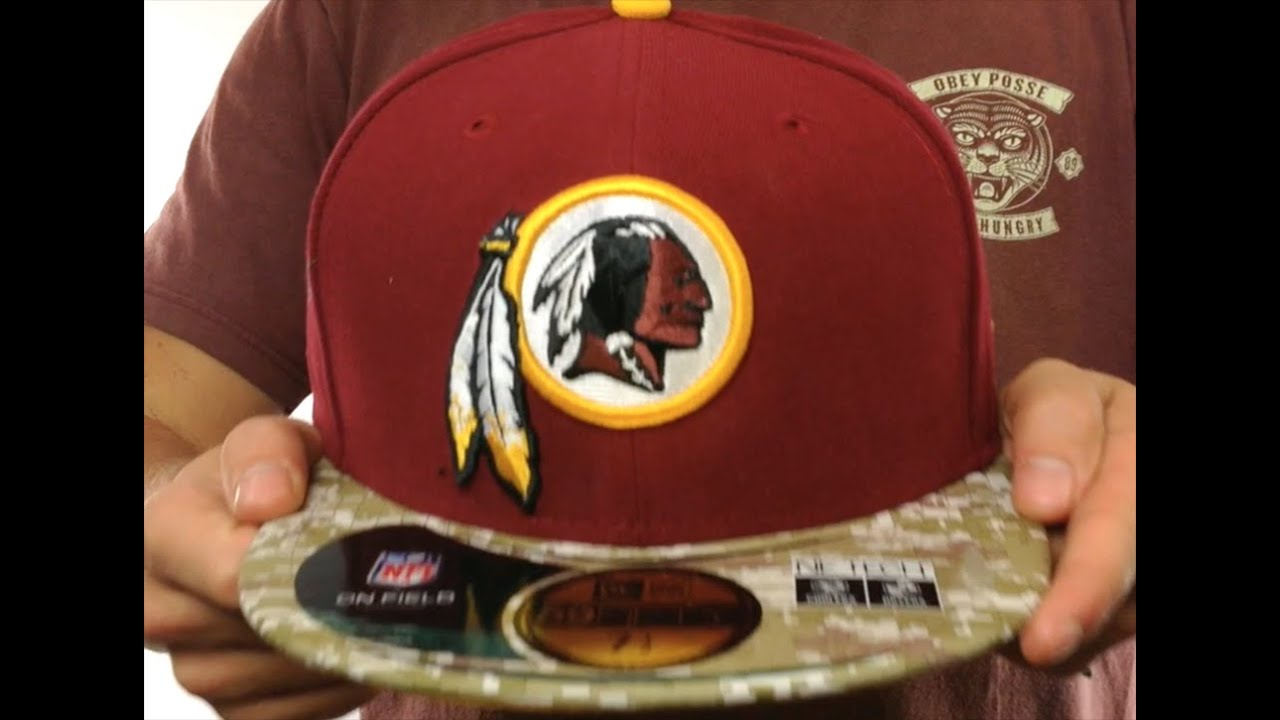 promo code 76dfa ca46a Redskins  2014 SALUTE-TO-SERVICE  Burgundy-Desert Fitted Hat by New Era
