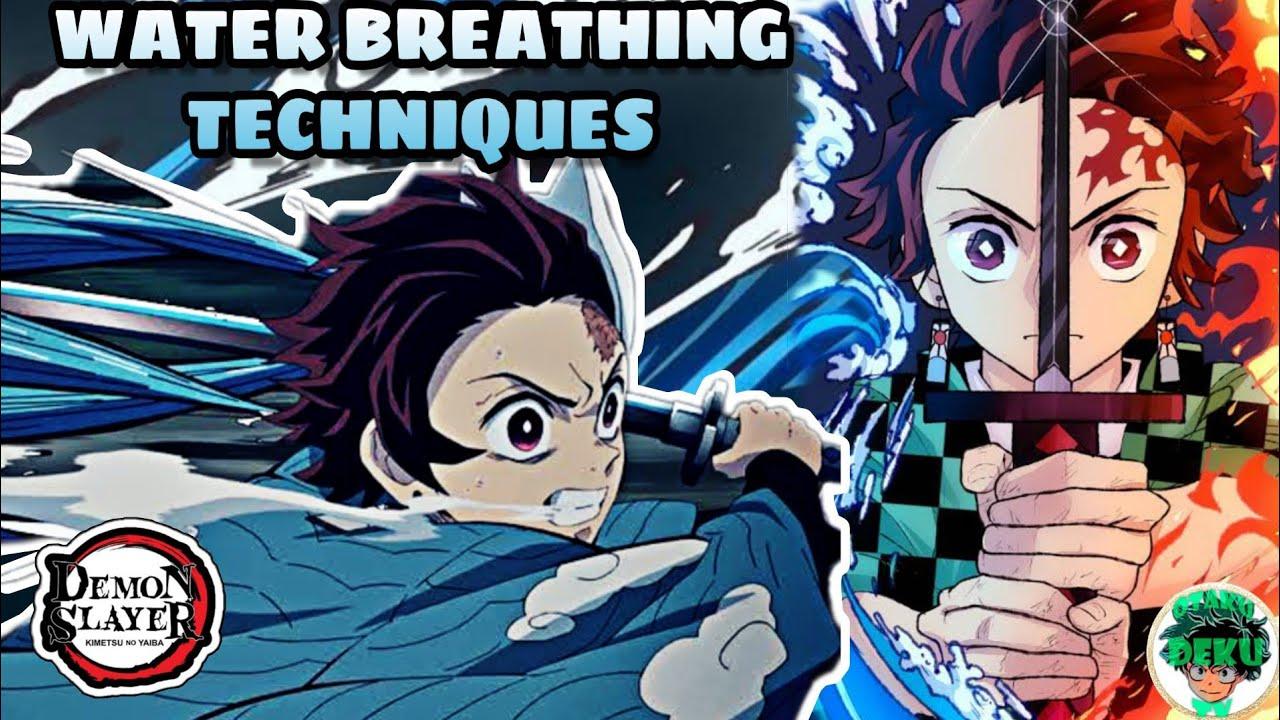 Tanjiro S Water Breathing Technique Highlights Kimetsu No Yaiba Demon Slayer Youtube