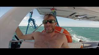 Seawind Catamaran Sailing in 30 Knots