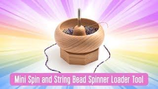 Beadsmith Medium Wooden Spin /& String Bead Spinner SW16