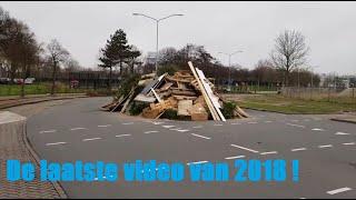 Laatste video van 2018. Effe langs de vreugdevuur locatie's van Overdie en 'T Rooie dorp in Alkmaar