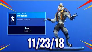 Fortnite Item Shop [11/23/18] NEW FREE EMOTE HOT MARAT!!!