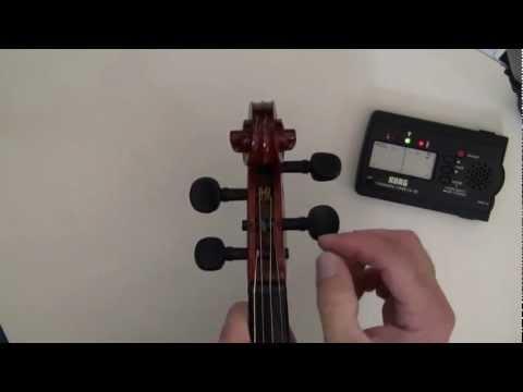 tuning a violin
