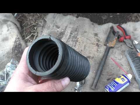 замена пыльника рулевой рейки ВАЗ-1113 ОКА ч.1