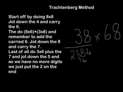 Trachtenberg Method Multiplication