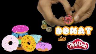 Cara Membuat Donat Dari Plastisin Sangat Mudah | Fun Doh | Lilin Mainan
