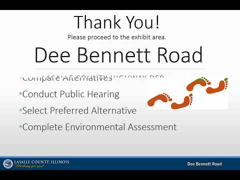Public Information Meeting - Dee Bennett Road Phase I Study