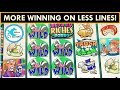 BEST METHOD TO WIN ON STINKIN' RICH SLOT MACHINE! LESS LINES FOR THE WIN!
