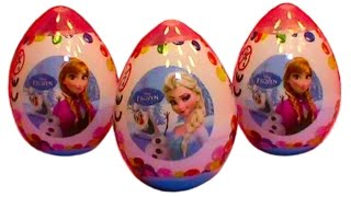 Frozen plastic surprise eggs toys Zaini unboxing