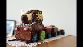 Lokomotive Kuchen für Kindergeburtstag (Kinderkram #1)