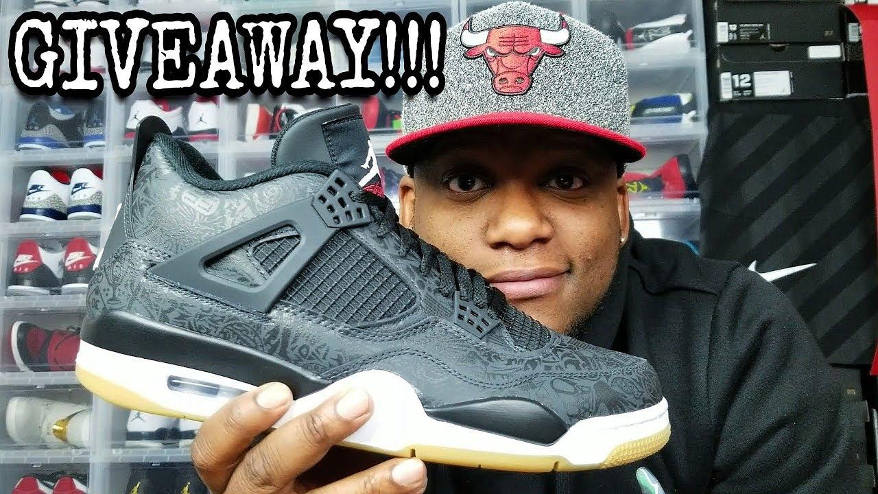 1f18c57bd16a4c UNBOXING AND GIVEAWAY!!! JORDAN 4 SE BLACK LASER!!! - YouTube