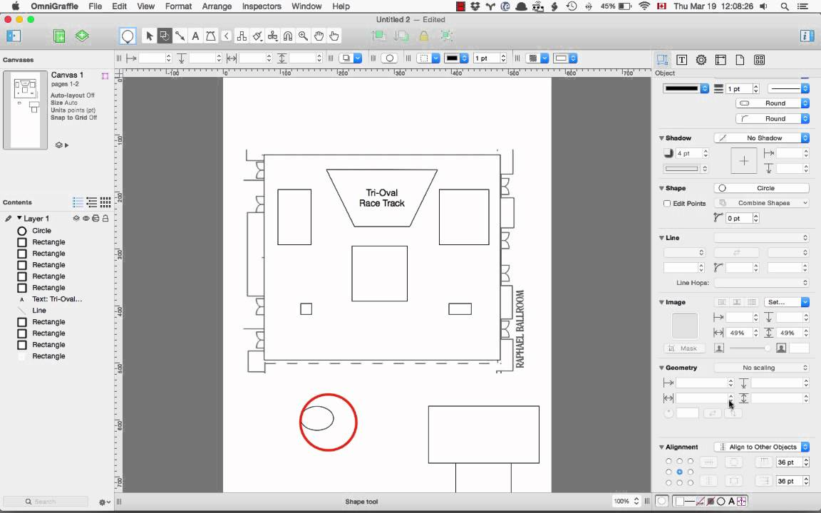 Making a floor plan with omnigraffle - YouTube