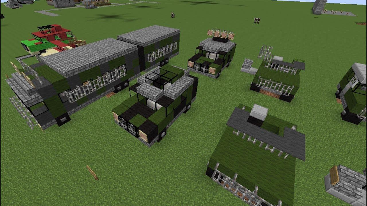 Minecraft Tutorial Jurassic Park Vehicles Youtube