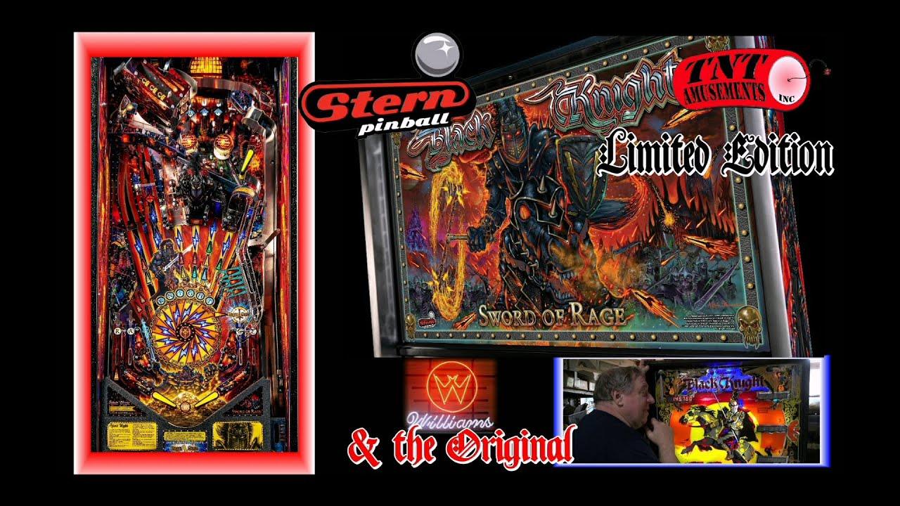 #1619 Stern BLACK KNIGHT 3000 Swords Of Rage LIMITED & original BLACK KNIGHT Pinball!-TNT Amusements