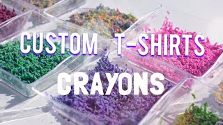 Making Custom T-shirt with crayons w/sister