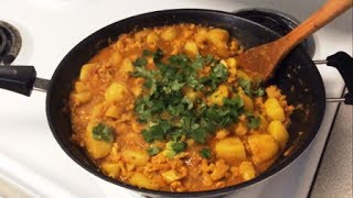 How To Make Aloo Gobi - Potato And Cauliflower Curry Recipe - [punjabi Style]