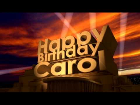 happy birthday carol youtube. Black Bedroom Furniture Sets. Home Design Ideas