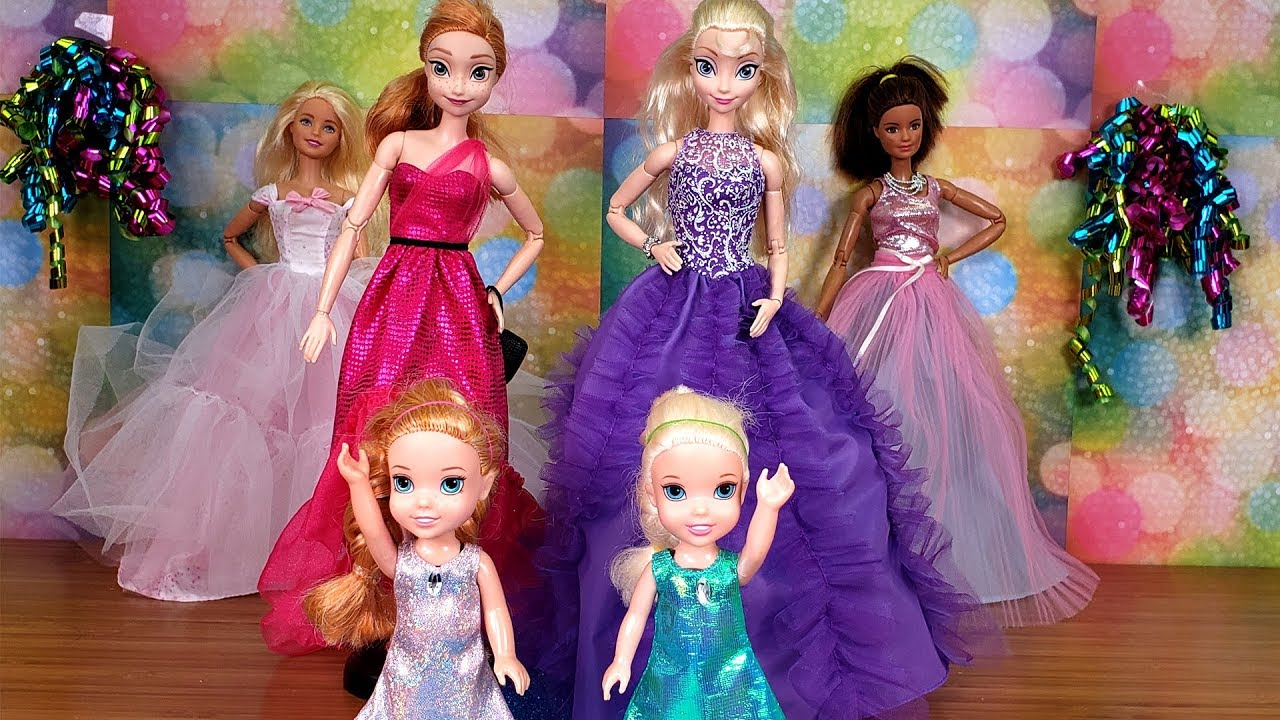Elsa And Anna Toddlers Dress Up Barbie Youtube