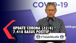 Update Corona Indonesia Rabu, 22 April 2020:  7.418 Kasus Positif, 913 Sembuh, 635 Meninggal Dunia