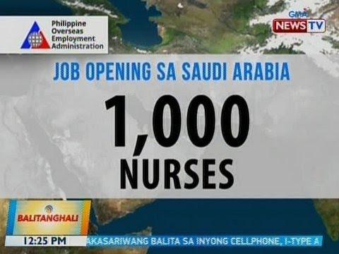 Download BT: Gobyerno ng Saudi Arabia, nangangailangan ng 1,000 Pinoy specialist nurse at 150 EMT
