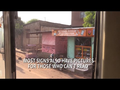 Bus ride through Mali