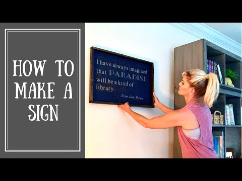 DIY Wood Frame (How to Make a Wood Sign)