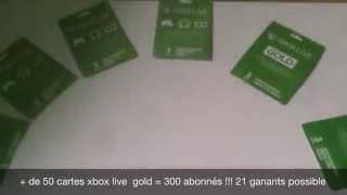 Code 50 Cartes Xbox Live Gold