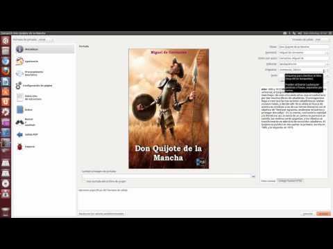 TRANSFORMAR EPUB/MOBI A PDF UBUNTU