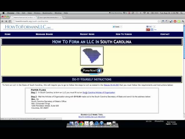 How to form an llc in south carolina 12 steps with pictures solutioingenieria Gallery