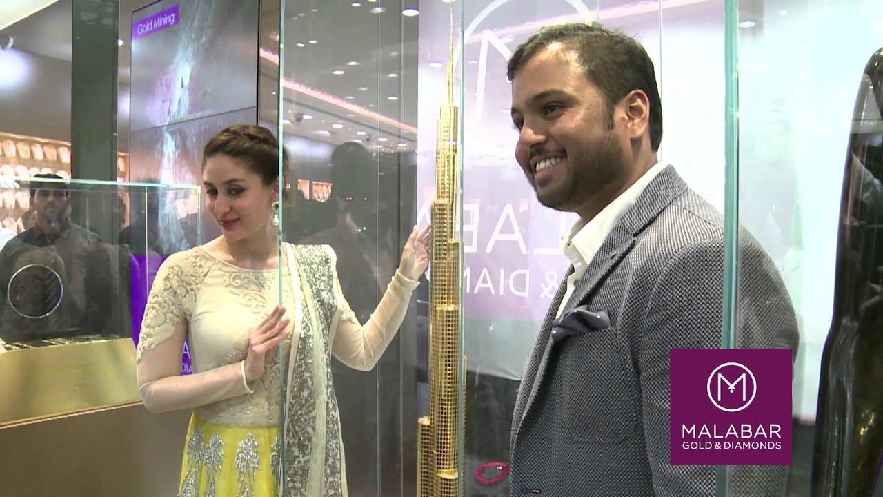 Malabar gold jewellery designs dubai - Malabar Gold Diamonds Launched Dubai S Largest Jewellery Outlet By Kareena Kapoor Khan Youtube