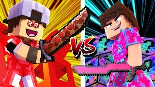 Minecraft: SORTE NO PVP - LUCKY BLOCK ROBLOX vs LUCKY BLOCK MIXED!