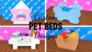 Custom UNIQUE PET BEDS Design Ideas \u0026 Building Hacks | Roblox Adopt Me
