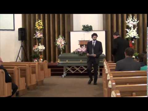 The funeral of Madge Black Miller