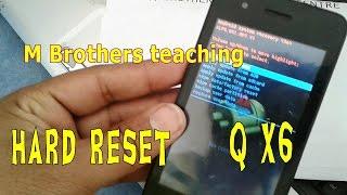 q mobile x6 hard reset pattern lock unlock
