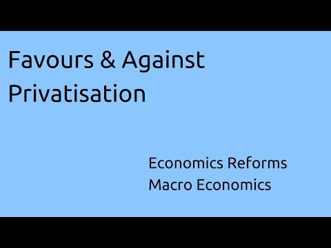 Learn Favours & Against Privatisation | Economics Reforms | CA CPT | CS & CMA Foundation | Class 11